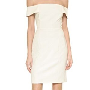 Rebecca Minkoff Off The Shoulder White Dress